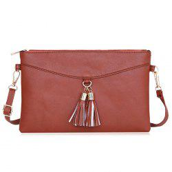 Tassels Faux Leather Crossbody Bag