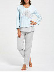 Cotton Striped Nursing Loungewear Set