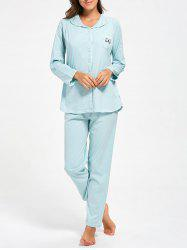Nursing Cotton Button Up Pajamas Set