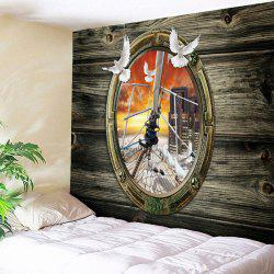Graphic Wood Grain Vintage Tapestry -