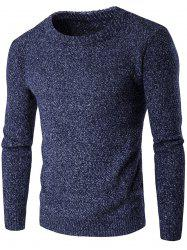 Heathered Crew Neck Pullover Jumper