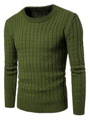 Slub Knit Textured Weave Sweater