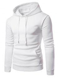Hooded Drawstring Fleece Hoodie