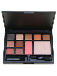 11 Colors Multipurpose Face Cosmetic Palette with Brushes -