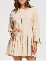 Long Sleeve Casual Flounce Dress