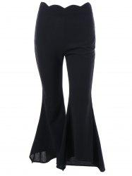 Scalloped Edge Waist Trumpet Pants