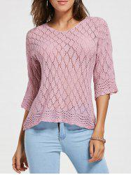 Openwork Lattice See Thru Sweater