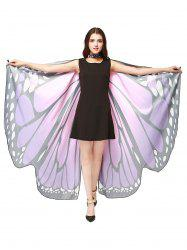 Oversize Chiffon Butterfly Wing Design Strap Cape