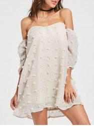 Mesh Mini Off Shoulder Tulle Dress