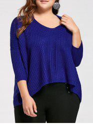 Long High Low Plus Suze Chunky Knit Sweater