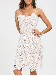 Crochet Cami Lace Mini Club Cocktail Dress -