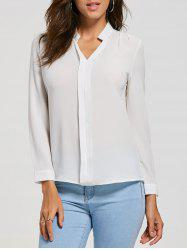 V Neck Casual Blouse -