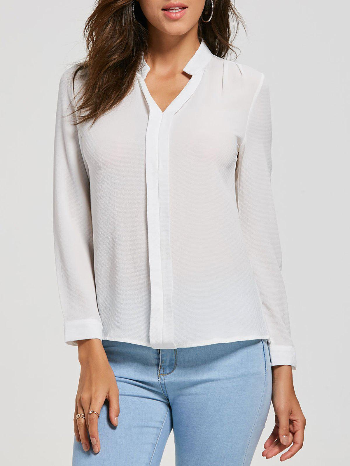 New V Neck Casual Blouse