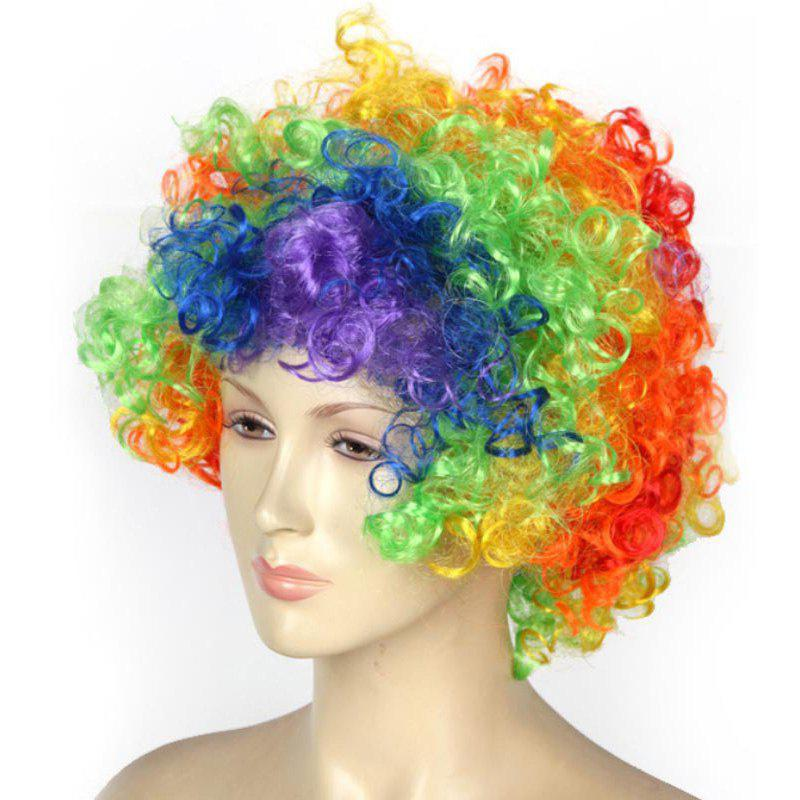 Halloween Party Accessories Rainbow Clown Wig