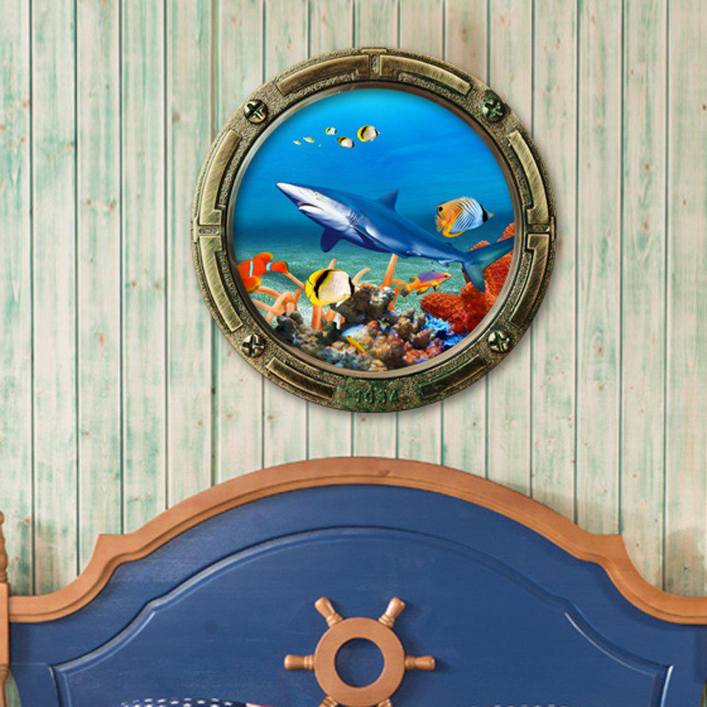Sea World Animals 3D Cartoon Wall StickerHOME<br><br>Size: 45*45CM; Color: OCEAN BLUE; Wall Sticker Type: 3D Wall Stickers; Functions: Decorative Wall Stickers; Theme: Animals,Cartoon; Material: PVC; Feature: Removable; Weight: 0.1200kg; Package Contents: 1 x Wall Sticker;
