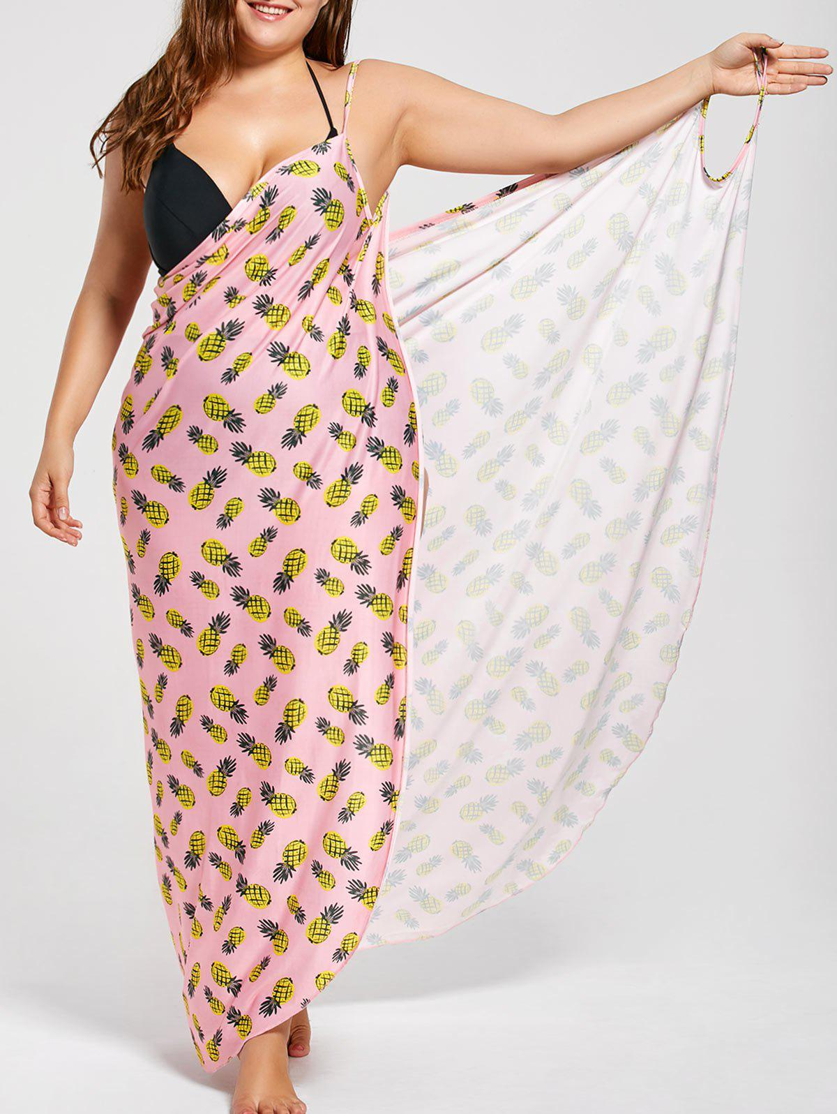 Discount Plus Size Cover Up Wrap Maxi Dress