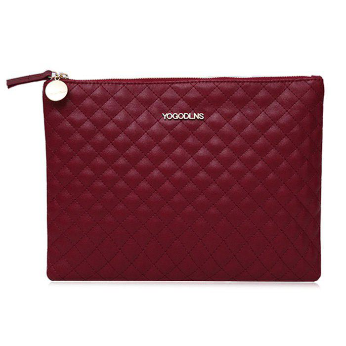Affordable Faux Leather Quilted Clutch Bag