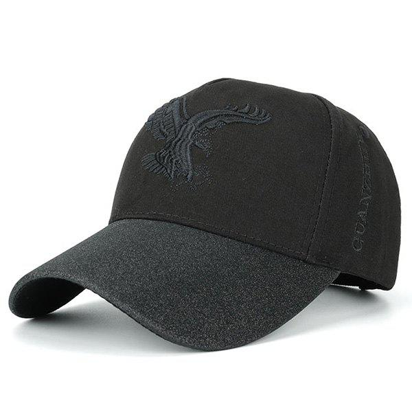 Letters Eagle Embroidered Baseball CapACCESSORIES<br><br>Color: BLACK; Hat Type: Baseball Caps; Group: Adult; Gender: Unisex; Style: Fashion; Pattern Type: Animal; Material: Polyester; Weight: 0.1100kg; Package Contents: 1 x Hat;