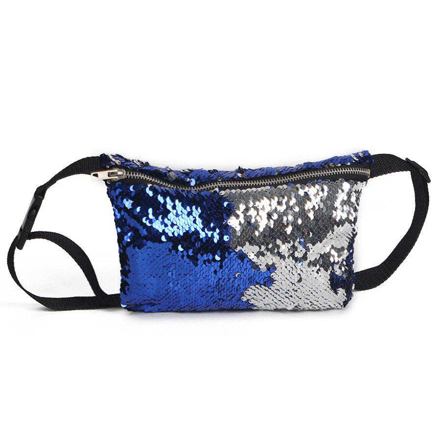 Outfit Color Block Sequins Fanny Pack