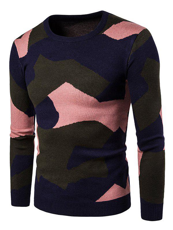 Shop Colorful Camouflage Pullover Sweater