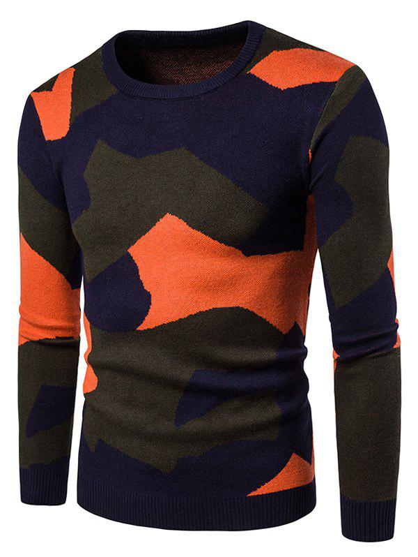 Chic Colorful Camouflage Pullover Sweater