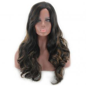 Long Side Parting Colormix Wavy Synthetic Wig