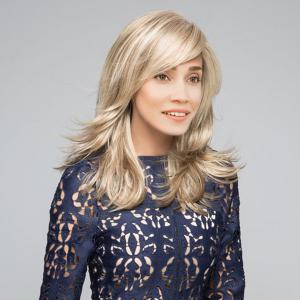 Long Side Bang Highlight Colormix Straight Synthetic Wig