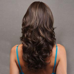 Long Side Bang Layered Wavy Colormix perruque synthétique -