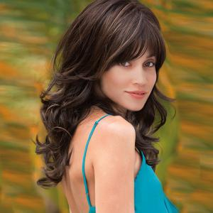Long Side Bang Layered Wavy Colormix Synthetic Wig - 56cm