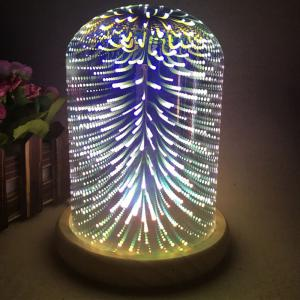 3D Colourful Firework Glass Shade Desk Lamp - Colorful