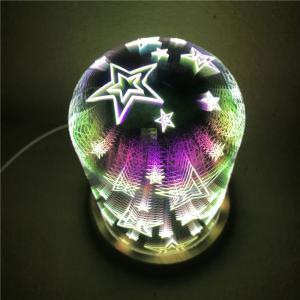 3D Glass Shade Colourful Stars Night Light - COLORFUL