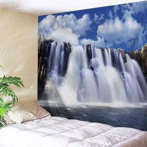 Waterfall Scenery Bedroom Wall Tapestry - Colormix - W59 Inch * L51 Inch