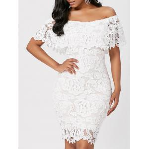Off Shoulder Lace Bodycon Sheath Formal Dress