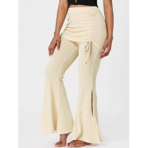 Knitted High Waist Bell Bottom Pants