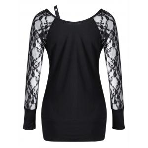 Raglan Sleeve Fitted Lace Up Top -