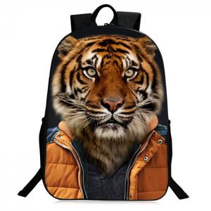 Zipper 3D Animal Pattern Backpack