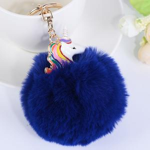 Pendant Pompon Puff Ball Keychain