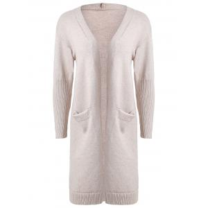 Drop Shoulder Pocket Plus Size Cardigan