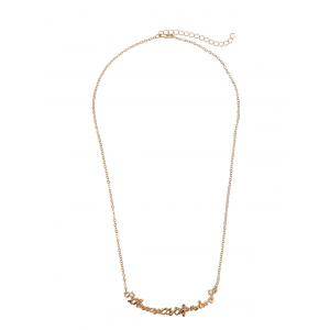 Rhinestone Love Nameplate Chain Necklace