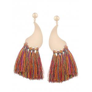 Long Tassel Statement Drop Earrings