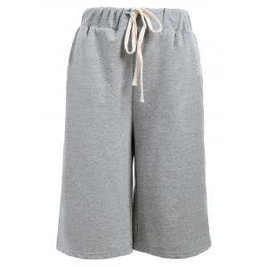 Drawstring Waist Plus Size Shorts