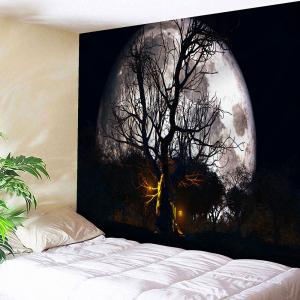 Wall Decor Halloween Moon Night Tapestry - Black - W91 Inch * L71 Inch