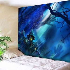 Halloween Castle Spider Web Bedroom Tapestry