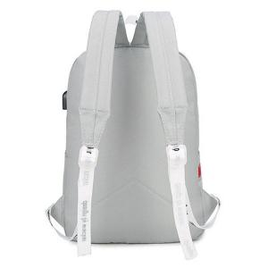 USB Interface Nylon Zippers Backpack -