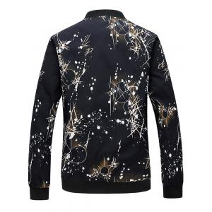 Zip Up Splatter Print Bomber Jacket -