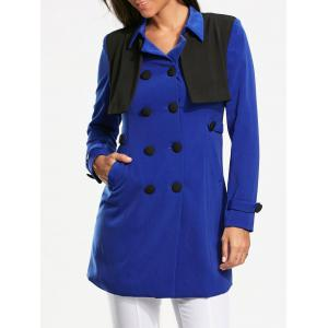 Bolero Panel Double Breasted Pea Coat
