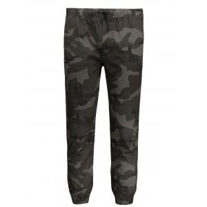 Camo Drawstring Mens Jogger Pants - Army Green - Xl