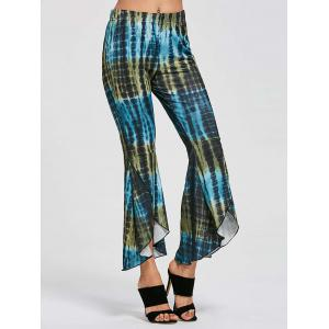 Cover Up Flare High Low Pants - Multicolore L