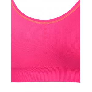 Adjustable Padded Sports Longline Racerback Bra - ROSE MADDER L