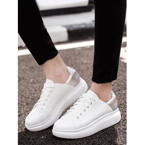 Two Tone Platform Sneakers -